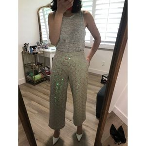 NWT Anthropologie sequined pants